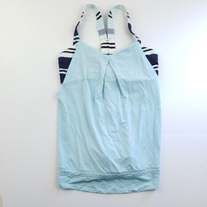 Lululemon womens blue and white tank top size 8